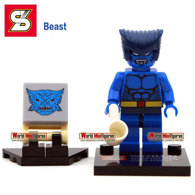 Beast with a coffee cup minifigure Single sale Shen yuan SY259-5 Marvel X-man Classic figures Best Collection Children Gift toys(China (Mainland))