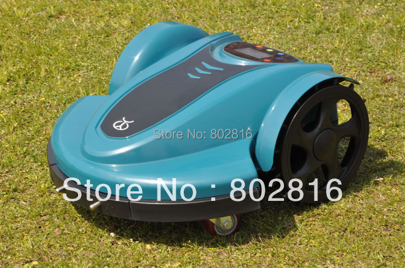 Free Shipping 2015 Newest Remote Control Lawn Mower Schedule(Li-ion Battery) With /Language Option / Subarea Setting /Password(China (Mainland))