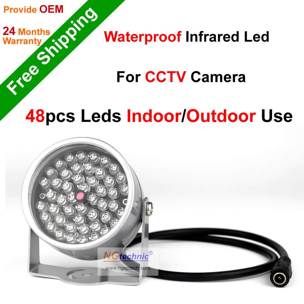 DONPHIA 48PCS F5 Infrared LED illuminator light CCTV IR Infrared Night Vision(China (Mainland))