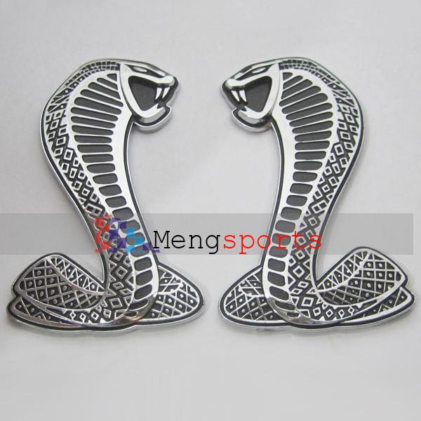 50 Pair 100pcs Mustang Snake Side Grill Cobra Badges Emblem(China (Mainland))