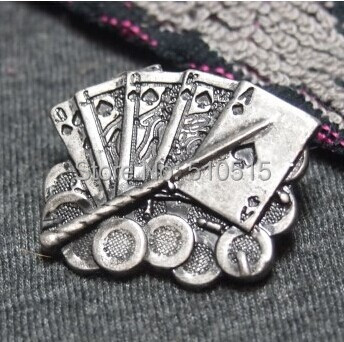 Poker Coin Playing Cards Lance Sword Brooch<br><br>Aliexpress