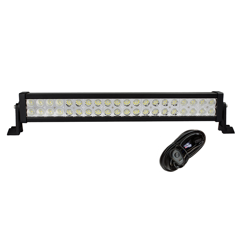 "22"" Inch 120W LED Light Bar for Work Driving Boat Car Truck 4x4 SUV ATV Off Road Fog Lamp Spot Wide Flood Beam with Wiring Kit(China (Mainland))"
