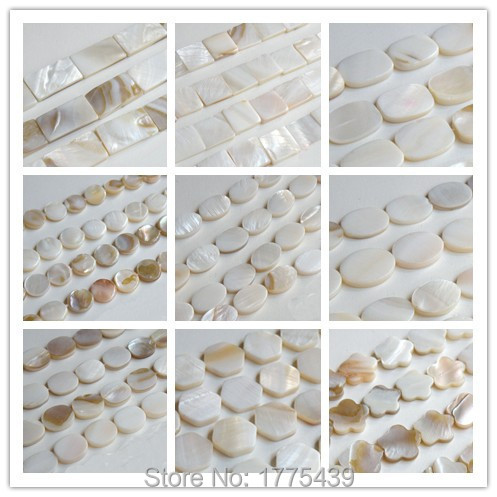 47x42mm-48x47mm Variations in Size Curved Not Flat Shape and Color Mother of Pearl Shell Flower Natural Shell