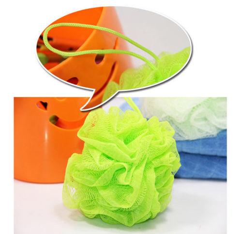 Puff Sponge Bath Ball Lily Shower Body Exfoliate Scrub Mesh Net Wash 7 Colors(China (Mainland))