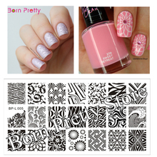 Wave & Texture Patterns Nail Art Stamp Template Image Plate Stamping Plate BORN PRETTY BP-L005 12.5 x 6.5cm(China (Mainland))