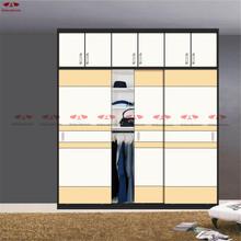 New Popular Bedroom Diy furniture Designs Veneer Cheap wood Wardrobe(China (Mainland))