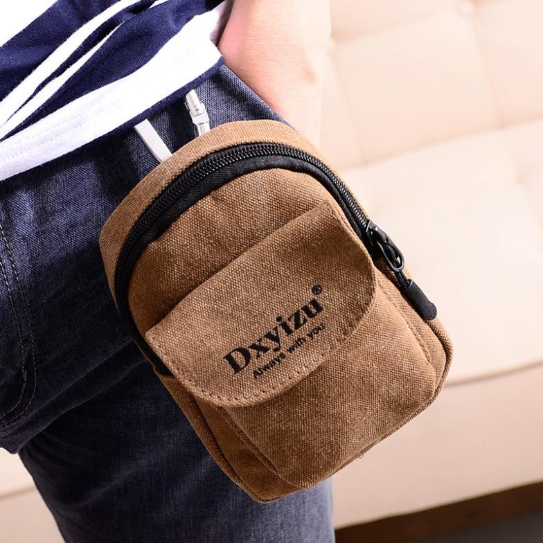 The new retro canvas bag document bag small pockets Wallets phone manufacturers(China (Mainland))