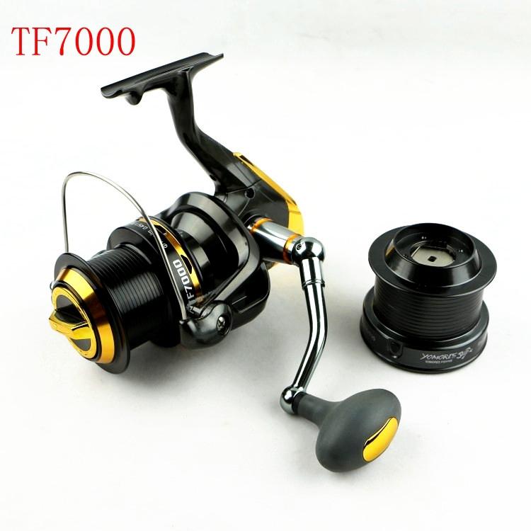 Катушка для удочки CNC TF7000 12 + 1 BB carretilha pesca swheel 4.7:1