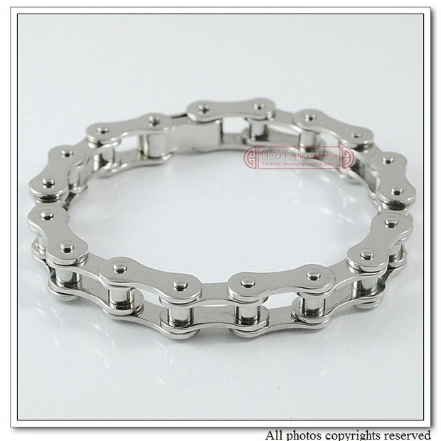 2012 New Arrivals, 316L Stainless Steel Bracelets Jewelry Mens Bike Chain Bicyble, 8.6, 10mm,  Wholesale&amp;Free shipping<br><br>Aliexpress