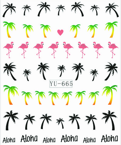 Water Transfer Nail Art Stickers Island Edition