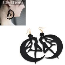 1 Pair Sailor Moon Tsukino Usagi Black Earrings Pendant Hook Kawaii Gift Girls Big Drop Earring Fashion Jewelry(China (Mainland))