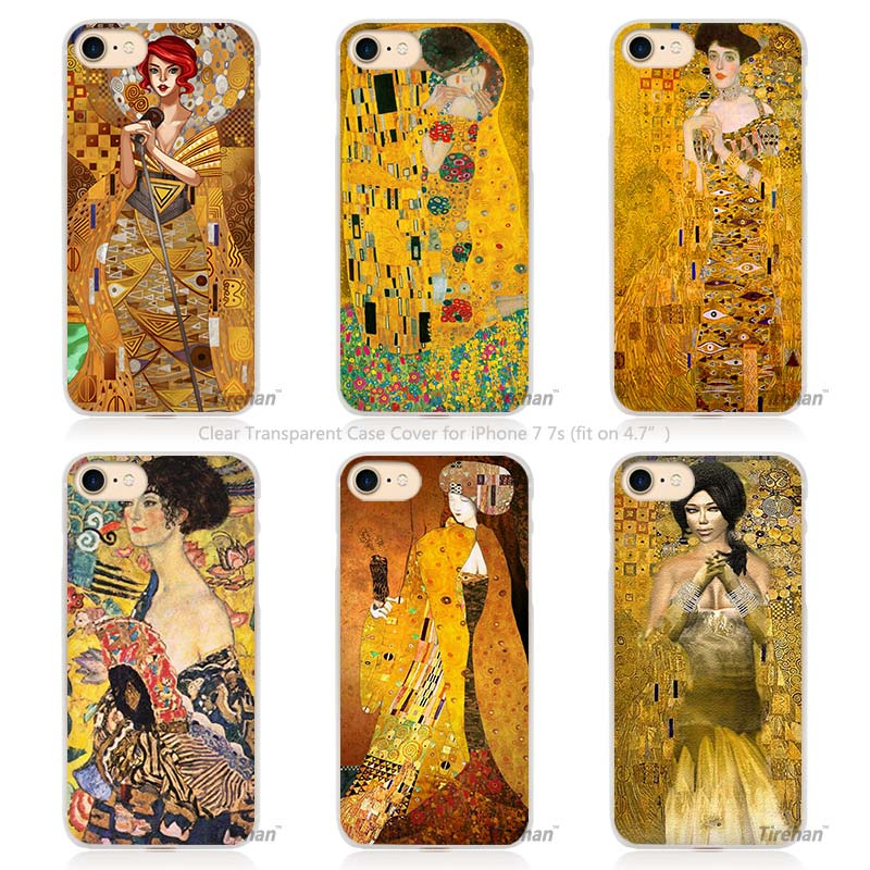 Gustav Klimt Golden Tears Oil night in venice Hard Transparent Phone Case Cover Coque for Apple iPhone 4 4s 5 5s SE 5C 6 6s 7 Pl(China (Mainland))