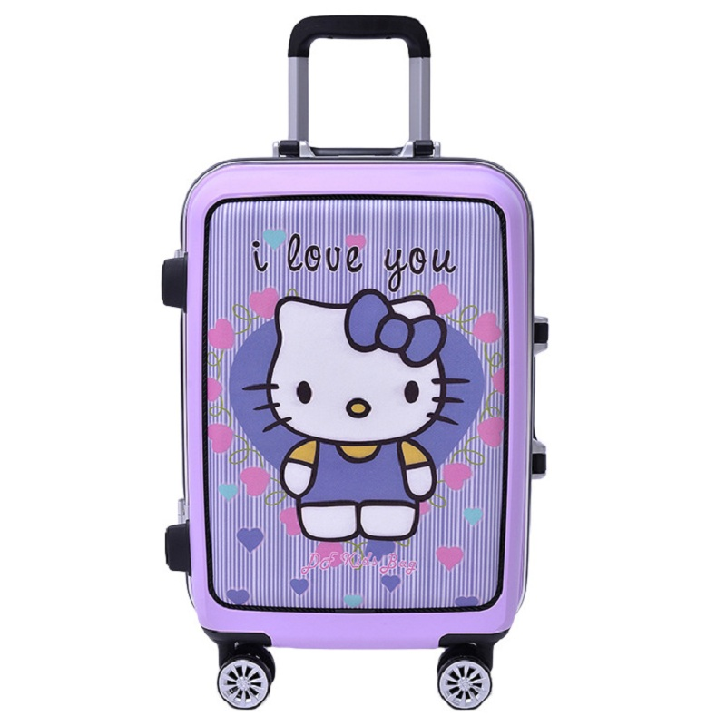 HOT hello Kitty cartoon 20 24 inch High quality PC trolley case child lovely Travel luggage girl rolling suitcase Boarding box(China (Mainland))