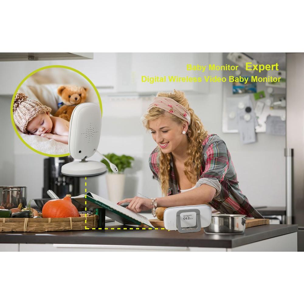 3.2 inch Wireless baby Monitor High Resolution Portable LCD Display Nanny Security Camera Night Vision Temperature Monitoring (19)