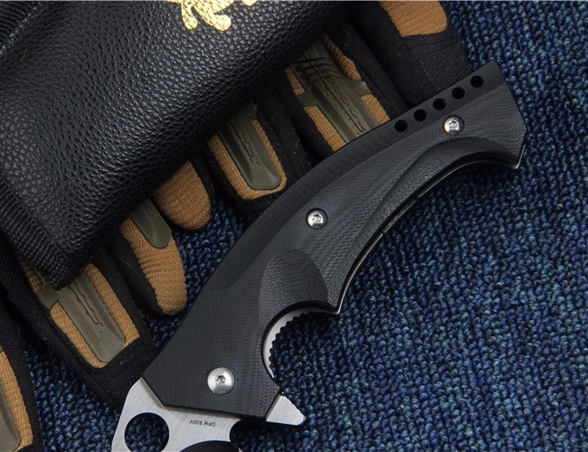 Buy BMT C196 Tactical Folding Pocket Knife With CPM S30V Blade G10 Handle Ball Bearing C196CFTIP Combat Utility Survival Rescue Tool cheap