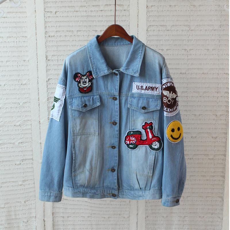 Mouse Brand Jeans Jacket Women