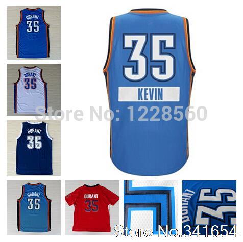 Free Shipping Oklahoma City Kevin Durant Jersey #35 Pride Resonate Fashion Crazy Light Latin Christmas Blue All Star Basketball(China (Mainland))