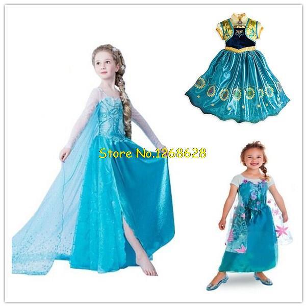 Baby Girls Dress Elsa Anna Party Dress Kids Princess Dress Children Clothing Vestidos Fever Elsa Dress Girls Clothes Infantis(China (Mainland))