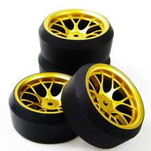 Buy 1/10 RC Car Drift Tires Tyre & Wheel Rim 4PCS Set DHG+PP0370 Model Toys On-Road Model Car Accessory for $8.59 in AliExpress store