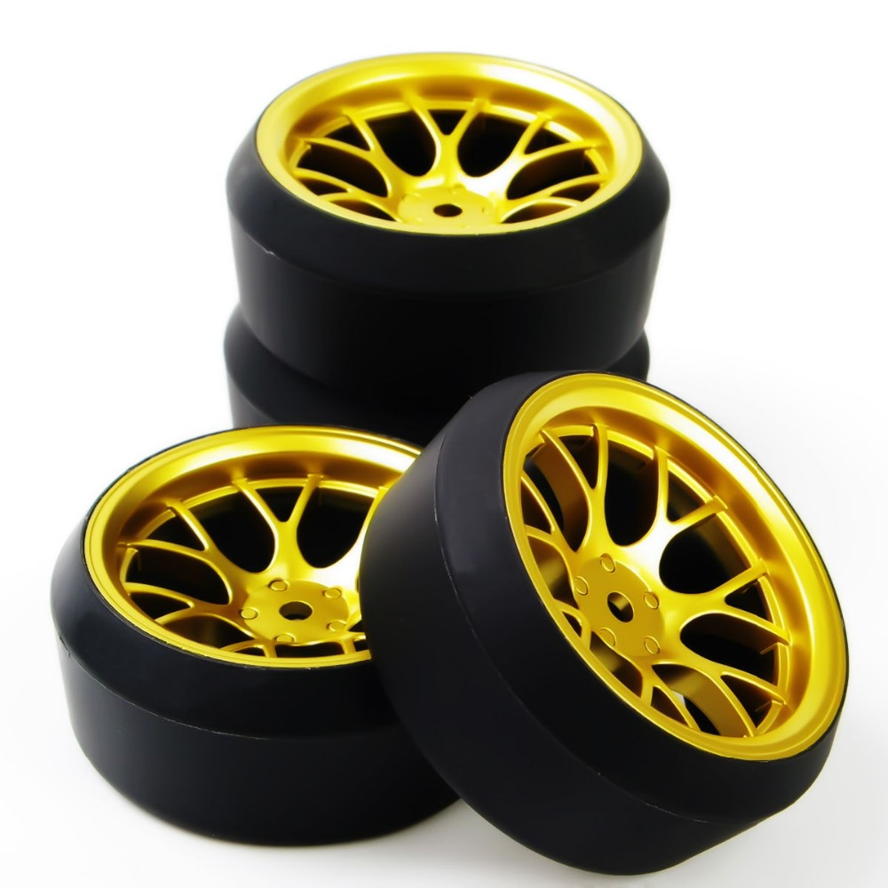 1/10 RC Car Drift Tires Tyre & Wheel Rim 4PCS Set DHG+PP0370 Model Toys For On-Road Model Car Accessory(China (Mainland))