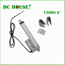 150mm/6 inches Solar Tracker Stroke Electric Linear Actuator 12V DC 150KG Load 5.7mm/sec Seed Mini Linear Tubular motor motion(China (Mainland))