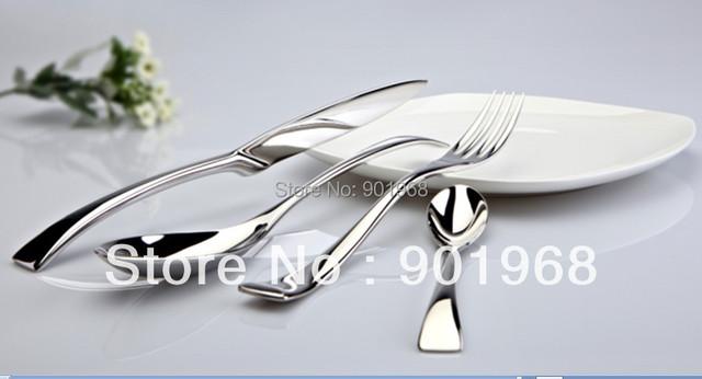 24set/lot stainless steel dinner knife and fork set-table ware set-cutlery set-4pcs set