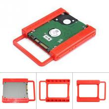 2.5 to 3.5 Inch SSD HDD Hard Disk Mounting Adapter Bracket Dock Holder Plastics Red For Notebook PC SSD Holder(China (Mainland))