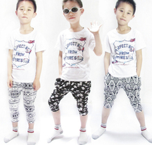 2014 baby boy girl Trousers casual cats seven five harem Pants pocket kid clothing children wear clothes(China (Mainland))
