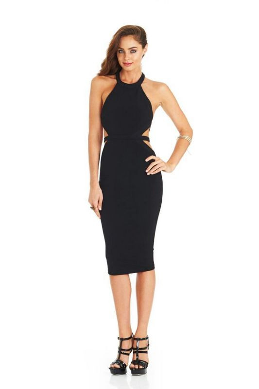 2016 New Backless Black Sexy Cut Out Bandage Dresses for Women birthday Day Gifts(China (Mainland))