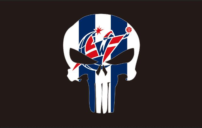 Washington Wizards sporting goods custom-made flag Digital Printing 100D Polyester colorful flag basketball club skeleton flag(China (Mainland))