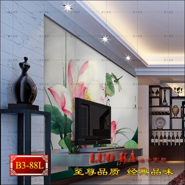 Здесь можно купить  Chinese wallpaper mural entrance hallway living room sofa backdrop wallpaper modern mountain painting lotus office  Строительство и Недвижимость