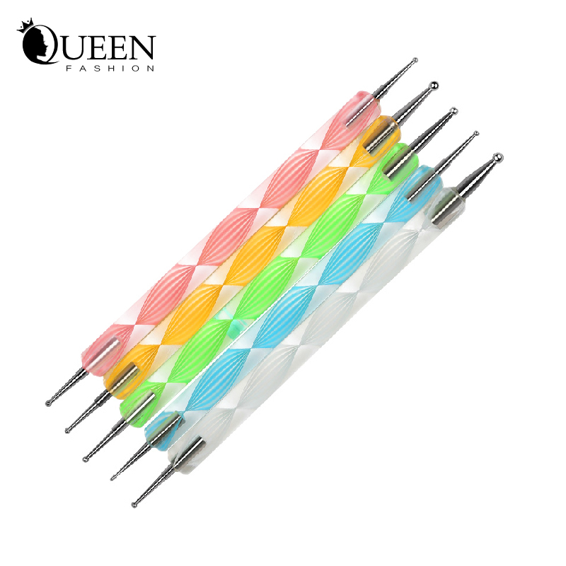 2 Way Nail Dotting Pen,Marblezing DIY Art Rhinestone Decoration Dot Painting Manicure Tools Supplies, - Fashion Queen Accessory Co. , Ltd store