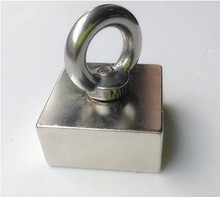 50 * 50 * 25 1 шт. блок отверстие магнит 50 x 50 x 25 мм мощный neodimioneodymium магниты редкоземельных постоянных сильный n52
