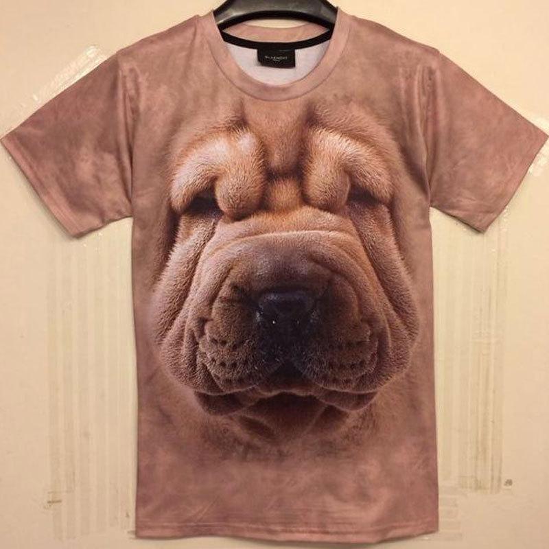 Sided factory sales ! New Men Dog rabbit horse duck dolphin Memphis Animals Funny 3D T -shirt brand design 3D printing T -shirt(China (Mainland))