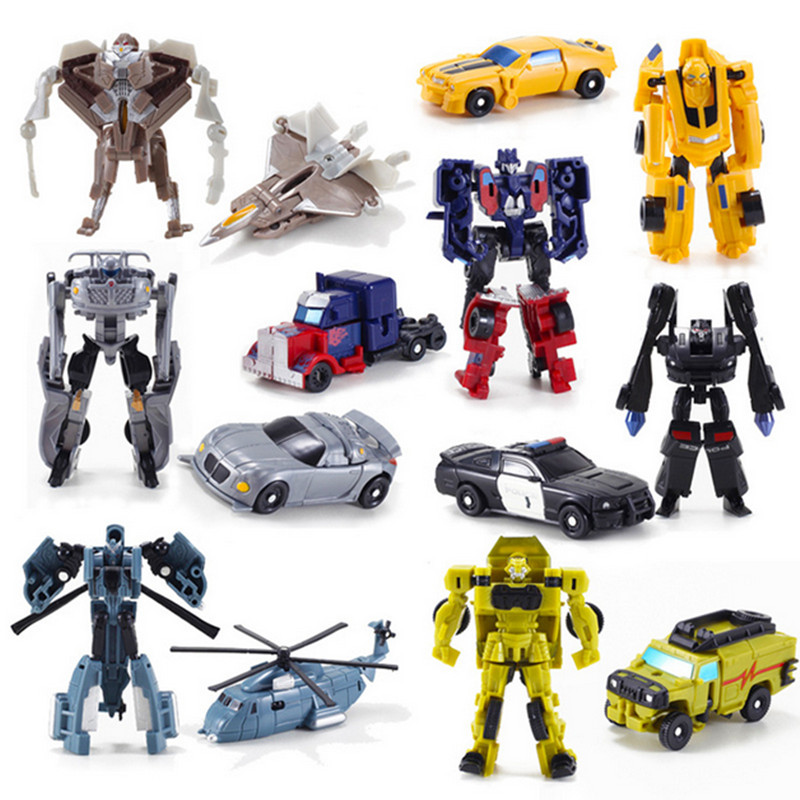 New Arrival Mini Classic Transformation Plastic Robot Cars Action Figure Toys Children Educational Puzzle Toy Gifts(China (Mainland))
