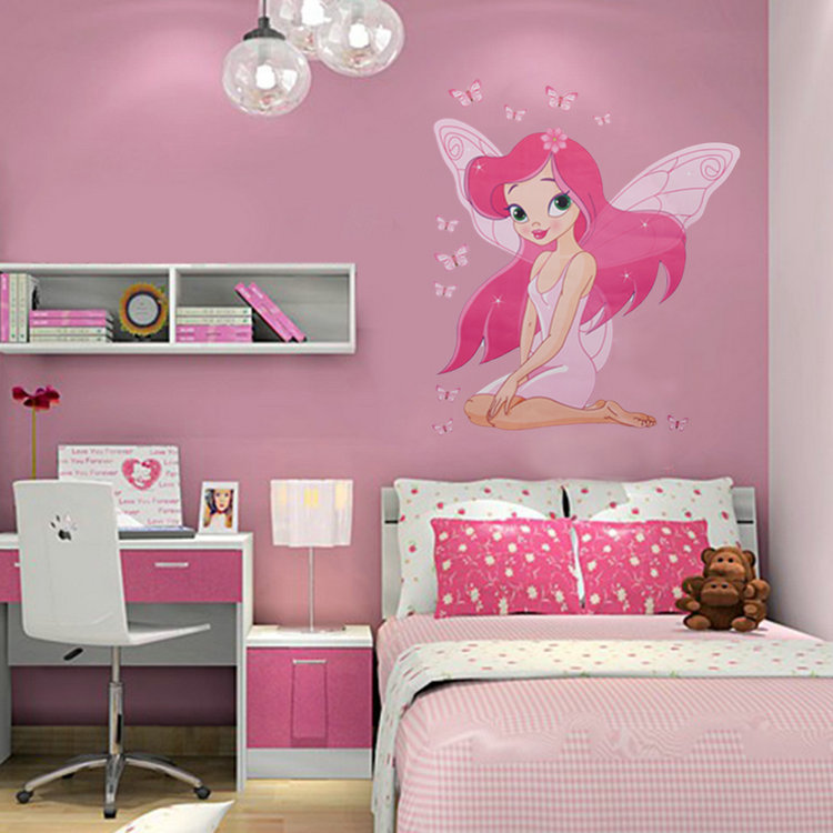 New Beautiful Fairy Princess Butterly Decals Art Mural
