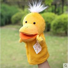 ГОРЯЧИЕ продажи небольшая утка Нежный Ребенок Ребенок Зоопарк на Ферме Руки перчатки Кукольный Finger Мешок Плюшевые Игрушки, детские игрушки, животных куклы-марионетки
