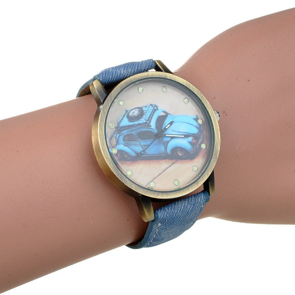Здесь можно купить  Casual Brand Wristwatch For Women Lady Cartoon Car Simple Designer PU Leather Quartz watch Reloj High quality&Wholesale Casual Brand Wristwatch For Women Lady Cartoon Car Simple Designer PU Leather Quartz watch Reloj High quality&Wholesale Ювелирные изделия и часы
