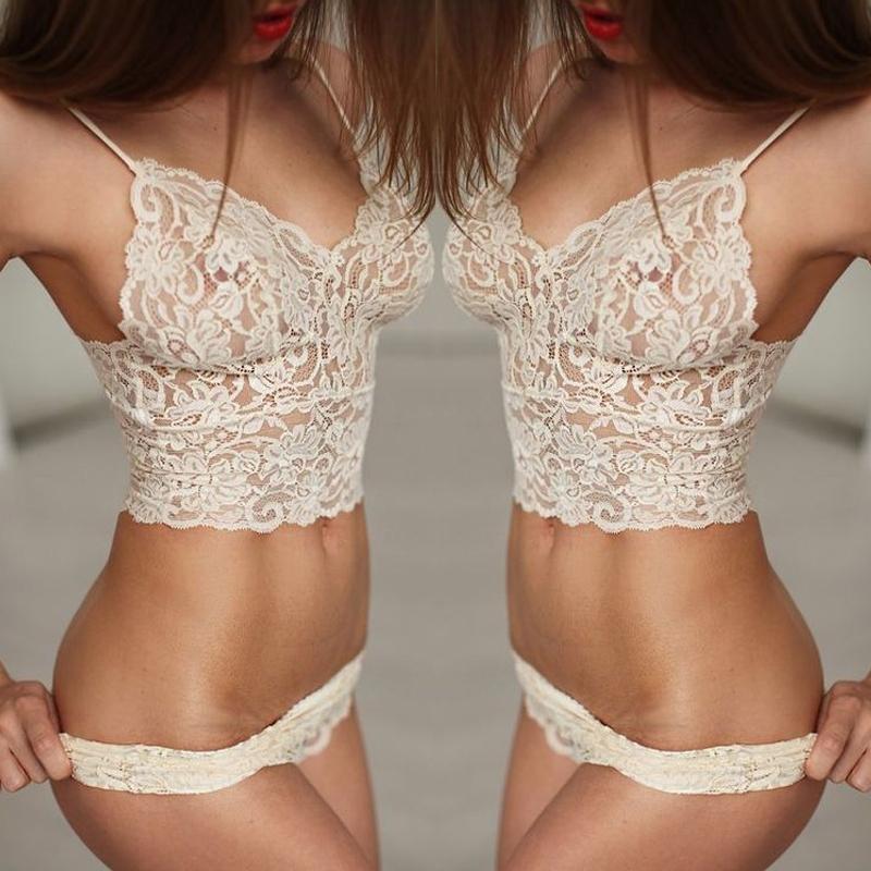 Women's Sexy Corset Lace Push Up Vest Top Girl Bra + Pants Set Underwear Suit Bikini 2016NEW