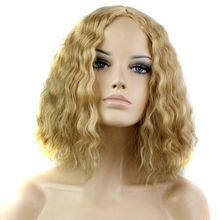 New Avaliable Multi-color Optional Cheap Wig Synthetic Hair wigs Womens Lady Short Curly Hair Wigs Full Wigs Heat Resistant