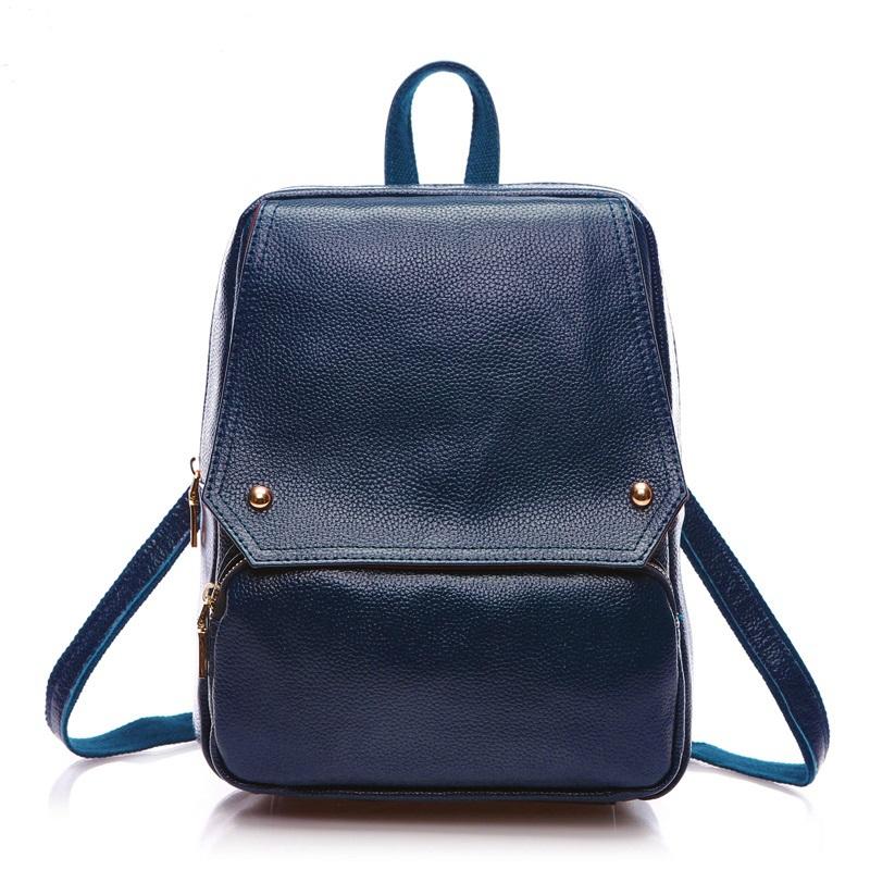Здесь можно купить  2015 Summer New Women Backpack Female Travel Backpack Women Genuine Leather Bag Shoulder Bag Preppy Style 3019  Камера и Сумки