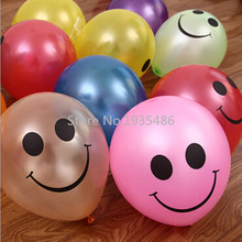 Hot Sale 100Pcs/ Lot Colorful big mouth smiley balloons, birthday party wedding Christmas decoration round latex balloon