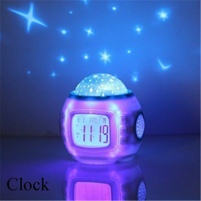 Sky Star Night Light Indoor Lighting Atmosphere Amazing Flashing Colorful family PATY Bedroom Alarm Clock Projector Lamp(China (Mainland))