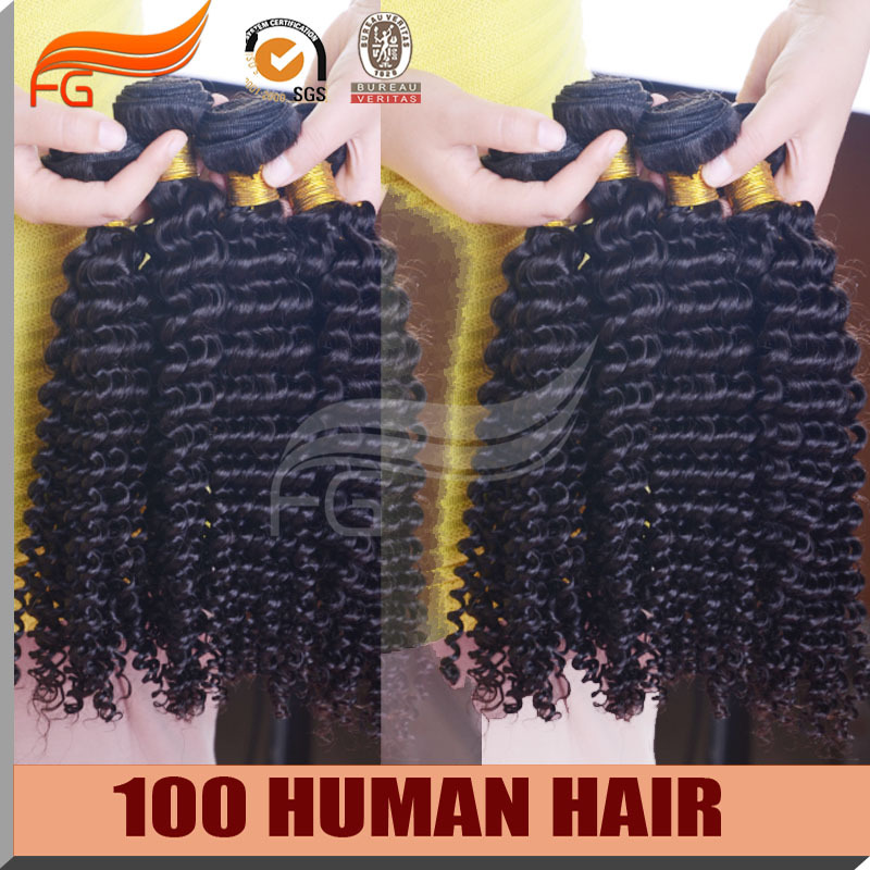 Фотография 7A Unprocessed Peruvian Virgin Hair curly 100% Human Hair Bundles Weave 4 pcs Lot Free Shipping