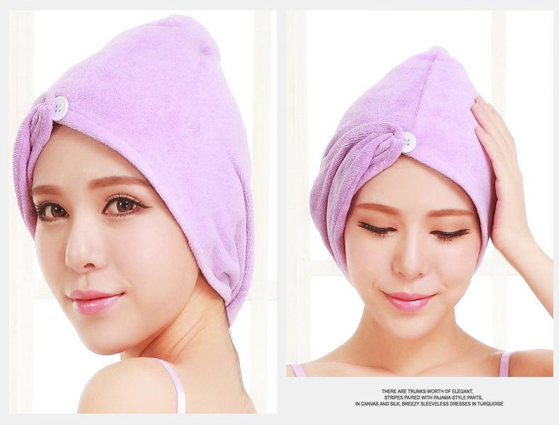 2016 highly quality microfiber soft quick-drying women hair towel dry hair-turban towels salon bath wrap dry towel bathroom(China (Mainland))
