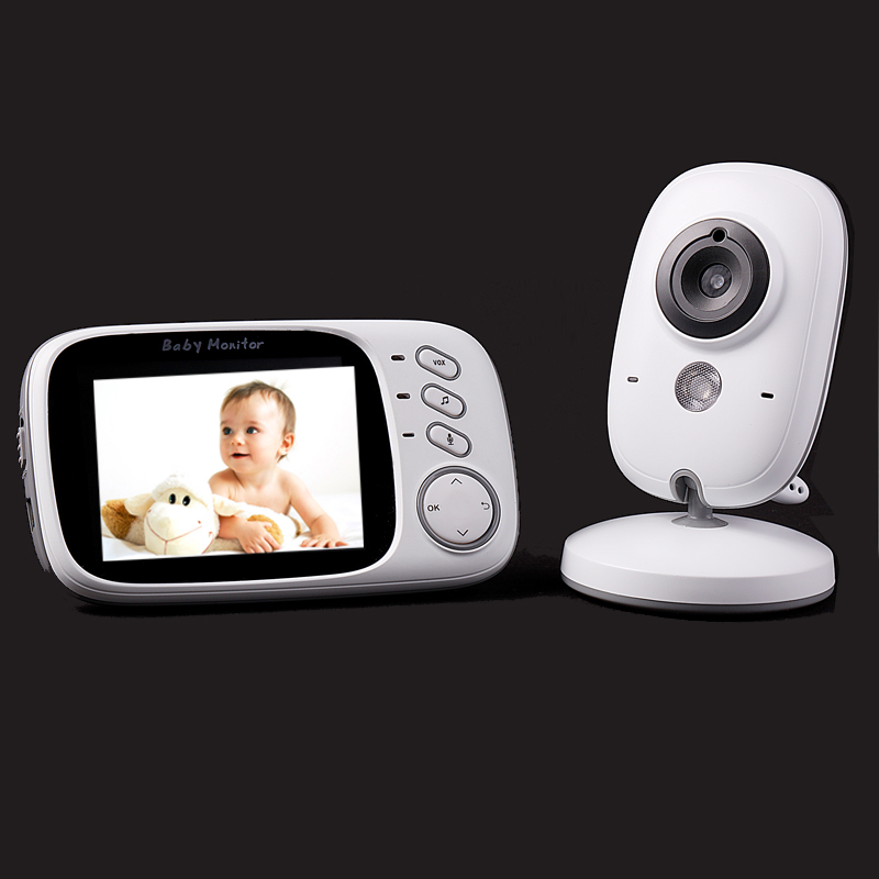 hot 3 2 inch color lcd monitor video wireless baby monitor security camera 2 way talk nigh. Black Bedroom Furniture Sets. Home Design Ideas