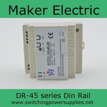 Непосредственно 45 вт Din железнодорожных модель высокая эффективность DR-45-12 45 w электропитание питания Din 12 v с широкий диапазон входного