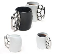 Fisticup Brass Knuckle Duster Handle Coffee Milk Ceramic Mug Cup Fist Cup Gift  ES88
