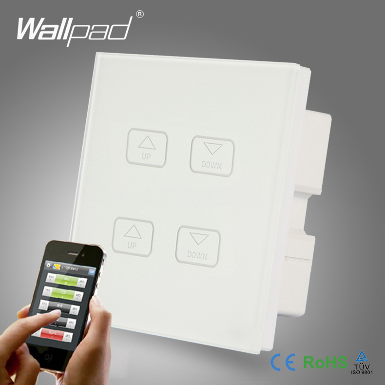 Hot Sale Wallpad White Glass LED Light Phone App Wireless 4 Gang 2/3 Way WIFI Remote and Touch Dimming Dimmer Wall Light Switch<br><br>Aliexpress