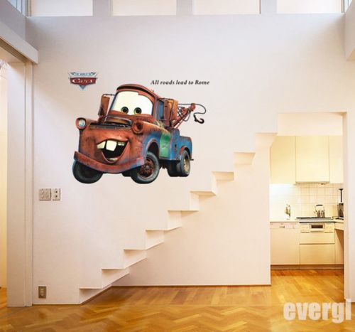 2015 Cartoon CARS 2 Big Mater WALL DECALS Stickers Art Kids Boy Home Decor UK(China (Mainland))